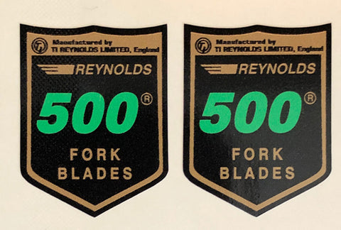 Reynolds 500 fork decals-H Lloyd Cycles