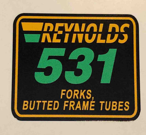 Reynolds 531 Forks, Butted Frame Tubes 89+-H Lloyd Cycles