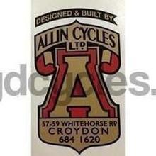 ALLIN head or seat tube crest decal.-H Lloyd Cycles