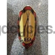 BSA printed metal badge. NOS-H Lloyd Cycles
