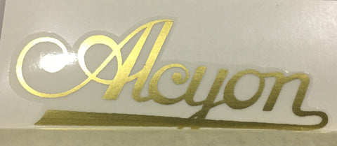 ALCYON script downtube in gold-H Lloyd Cycles
