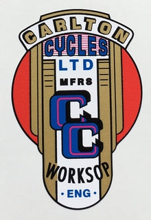 "CARLTON seat tube transfer with double central ""CC"" portion-H Lloyd Cycles"