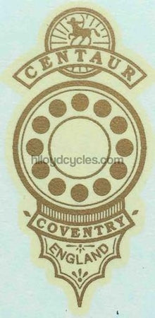 CENTAUR head/seat crest.-H Lloyd Cycles