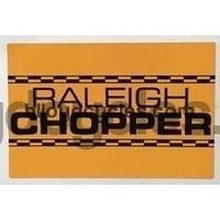 CHOPPER seat sticker.-H Lloyd Cycles
