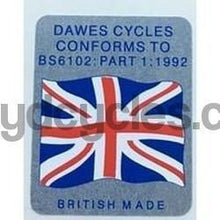 "DAWES ""flag"" decal.-H Lloyd Cycles"