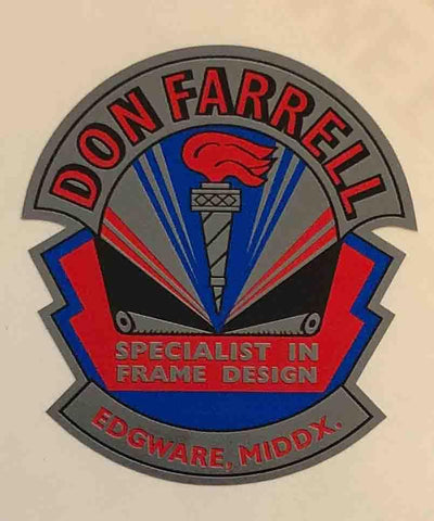 DON FARRELL (middlesex) Head/seat decal.-H Lloyd Cycles
