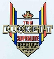 DUCKETT head/seat crest.-H Lloyd Cycles