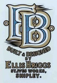 ELLIS BRIGGS head/seat tube decal.-H Lloyd Cycles