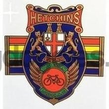 HETCHINS Headbadge with Olympic bands-H Lloyd Cycles