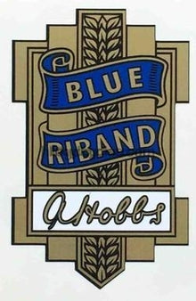 HOBBS BLUE RIBAND head/seat transfer.-H Lloyd Cycles