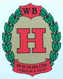 HURLOW. Bill Hurlow head/seat tube decal.-H Lloyd Cycles