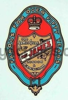 JAMES garter/shield head/seat transfer.-H Lloyd Cycles