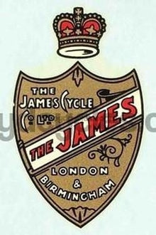JAMES small shield head/seat transfer-H Lloyd Cycles
