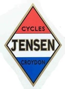 JENSEN seat tube crest.-H Lloyd Cycles