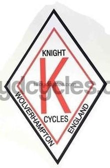KNIGHT (Woverhampton) head/seat crest.-H Lloyd Cycles