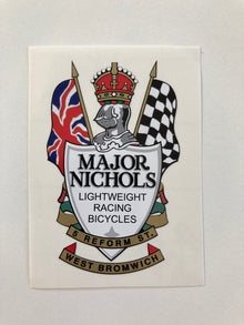 MAJOR NICHOLS Headtube decal Reform Street-H Lloyd Cycles