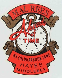 "MAL REES. ""Ahead of time"" type head/seat transfer.-H Lloyd Cycles"