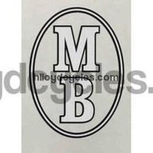 MB DRONFIELD Oval head decal.-H Lloyd Cycles