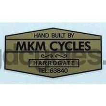 MKM Gold Hexagonal decal-H Lloyd Cycles