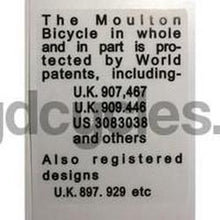 Moulton Patent Detail-H Lloyd Cycles