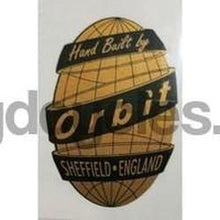 ORBIT head decal.-H Lloyd Cycles
