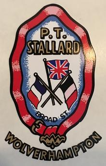P. T. STALLARD head/seat crest.-H Lloyd Cycles