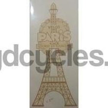 "PARIS ""Eiffel Tower"" type seat transfer-H Lloyd Cycles"
