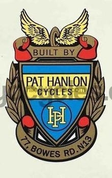 Pat Hanlon head/seat crest decal.-H Lloyd Cycles