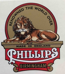 PHILLIPS head/seat crest Birmingham-H Lloyd Cycles