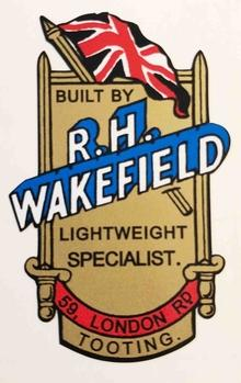 R H WAKEFIELD (Tooting) head/seat-tube crest.-H Lloyd Cycles