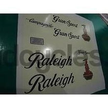 "Raleigh Gran Sport decal set. 1980's type. Type ""B""-H Lloyd Cycles"