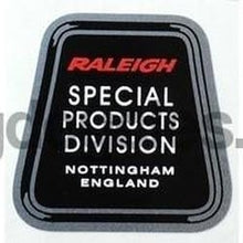 "RALEIGH ""SPECIAL PRODUCTS DIVISION"" seat tube decal.-H Lloyd Cycles"