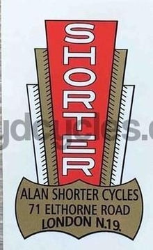 SHORTER head/seat crest Elthorne Rd-H Lloyd Cycles