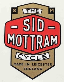 SID MOTTRAM (Leicester) Head decal-H Lloyd Cycles