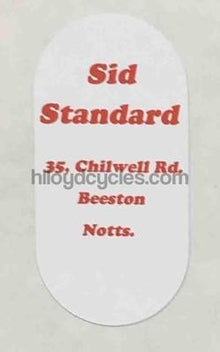 Sid Standard decal-H Lloyd Cycles