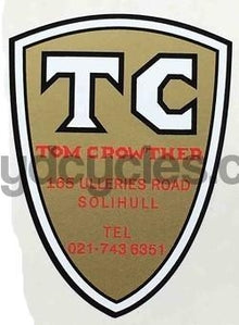 Tom Crowther Head Decal-H Lloyd Cycles