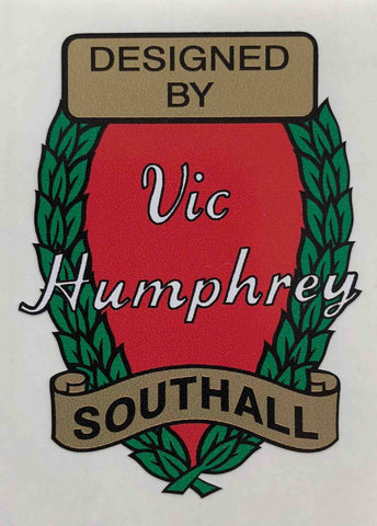 Vic Humphrey Head crest-H Lloyd Cycles