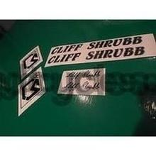 Vintage Cliff Shrubb decals-H Lloyd Cycles