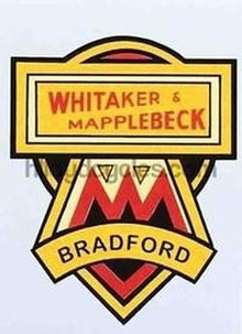 WHITAKER AND MAPPLEBECK (Bradford) Head/seat decal.-H Lloyd Cycles