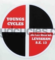 YOUNGS (Lewisham) head decal.-H Lloyd Cycles