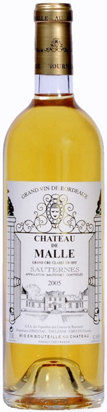 2005 Château de Malle 1/2 Bottle, Sauternes, France