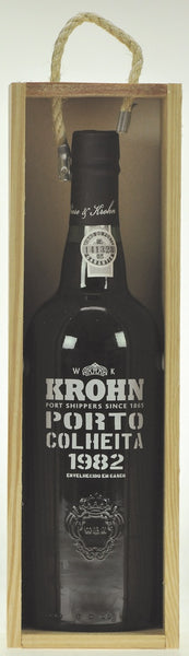 1982 Krohn Colheita Port (wooden box)