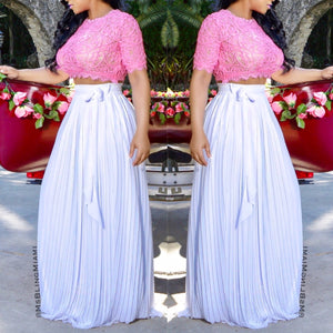 Emma Pleated Maxi Skirt