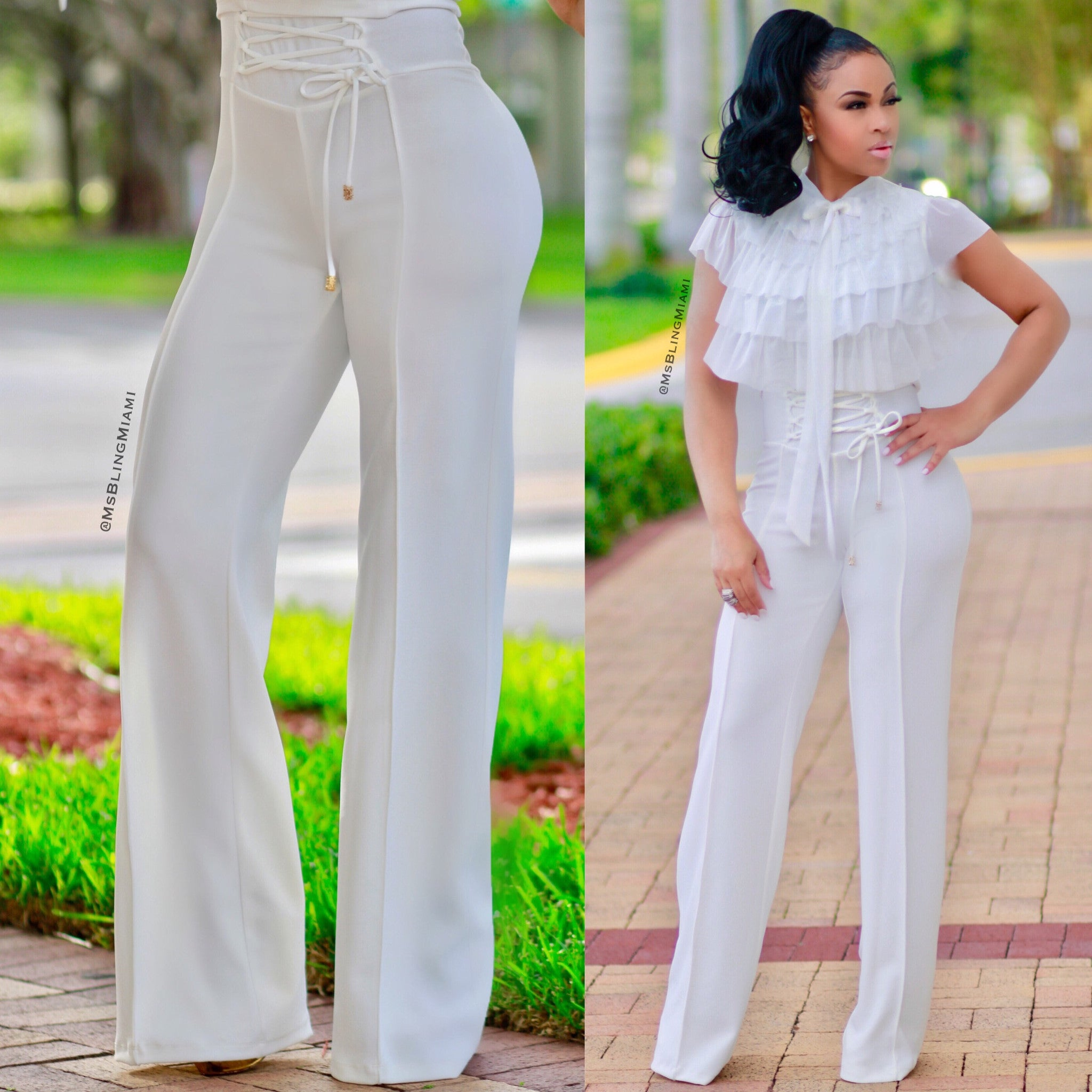 Sloane High Waist Corset Pants