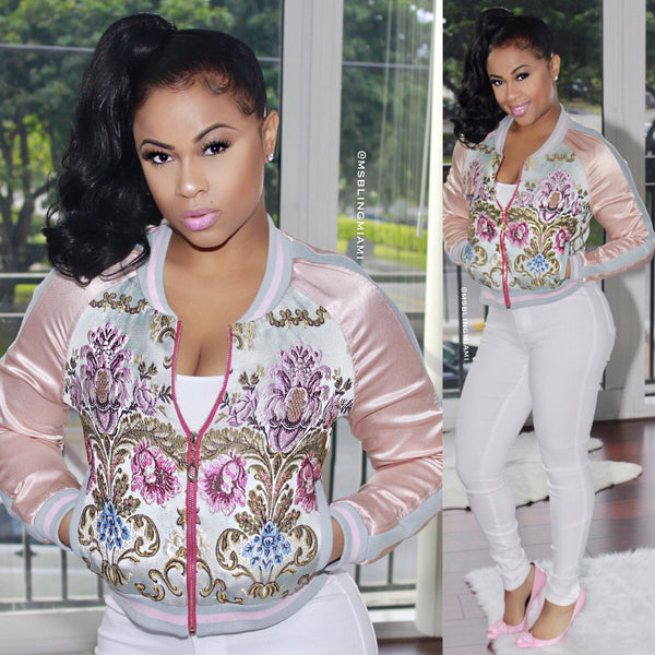 Candi embroidered bomber