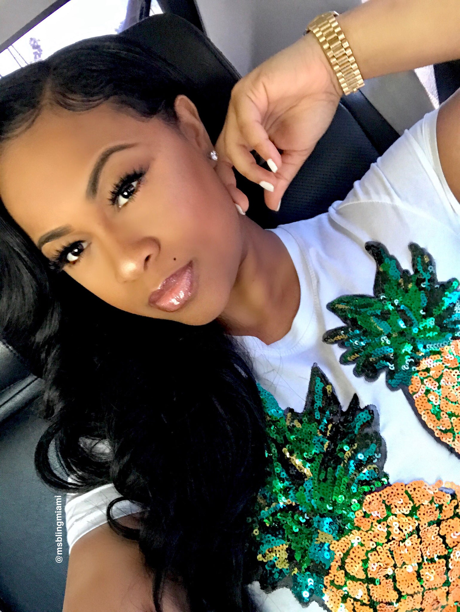 Diced Pineapples Stretch Tee (Final Sale‼️)