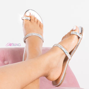 """Bijoux"" Crystal Sandals"
