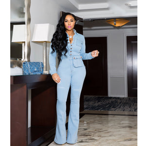 """Tribeca"" Denim Jumpsuit"