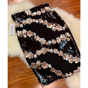 Leflora Stretch Sequin Skirt