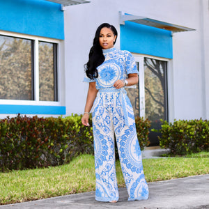 """Fine China"" 2pc Palazzo Set"